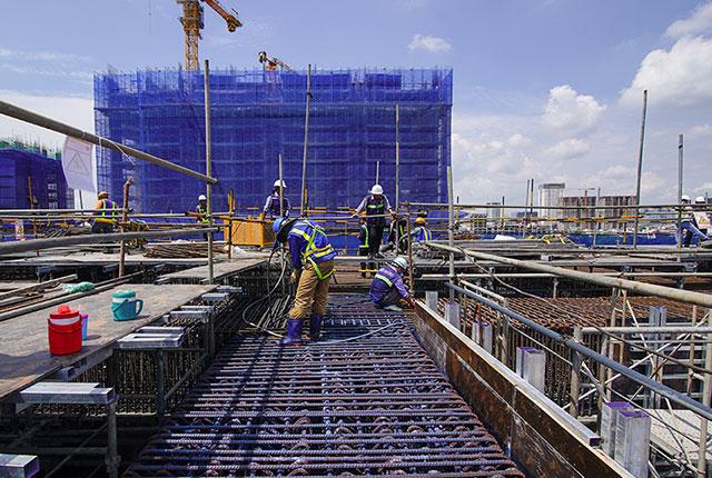 tiến độ thi công dự án căn hộ q7 saigon riverside đường đào trí 9
