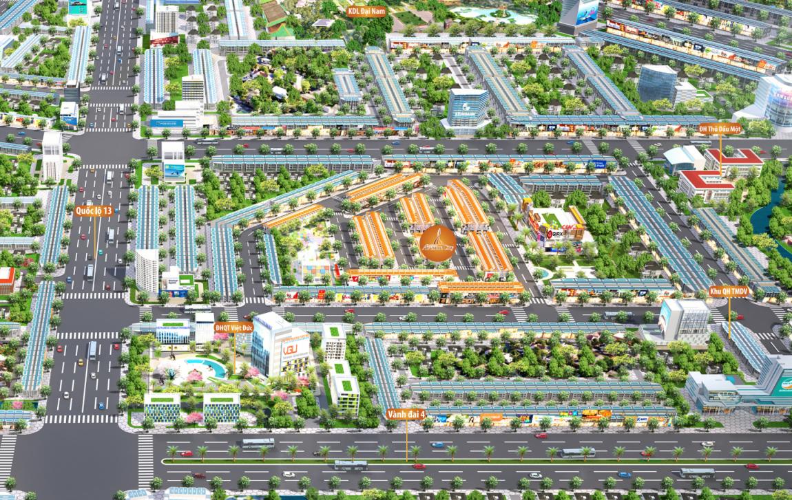 mặt bằng dự án bình dương avenue city 2