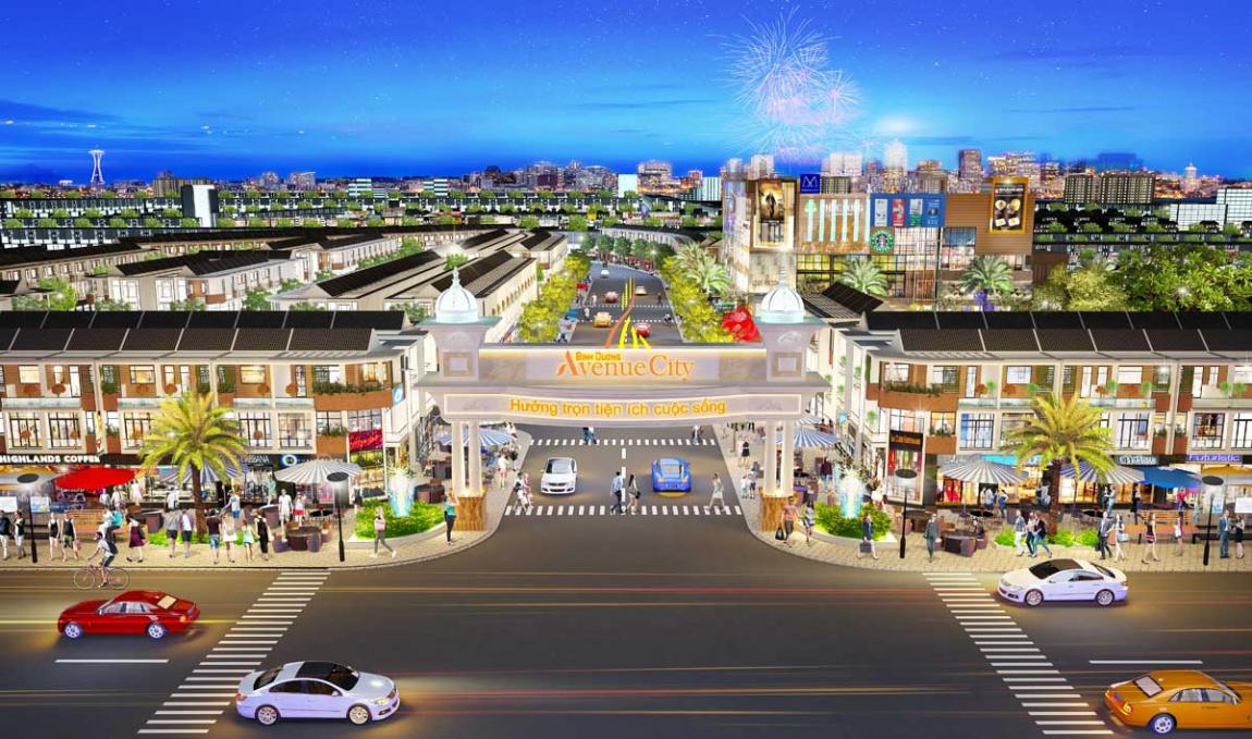 mặt bằng dự án bình dương avenue city