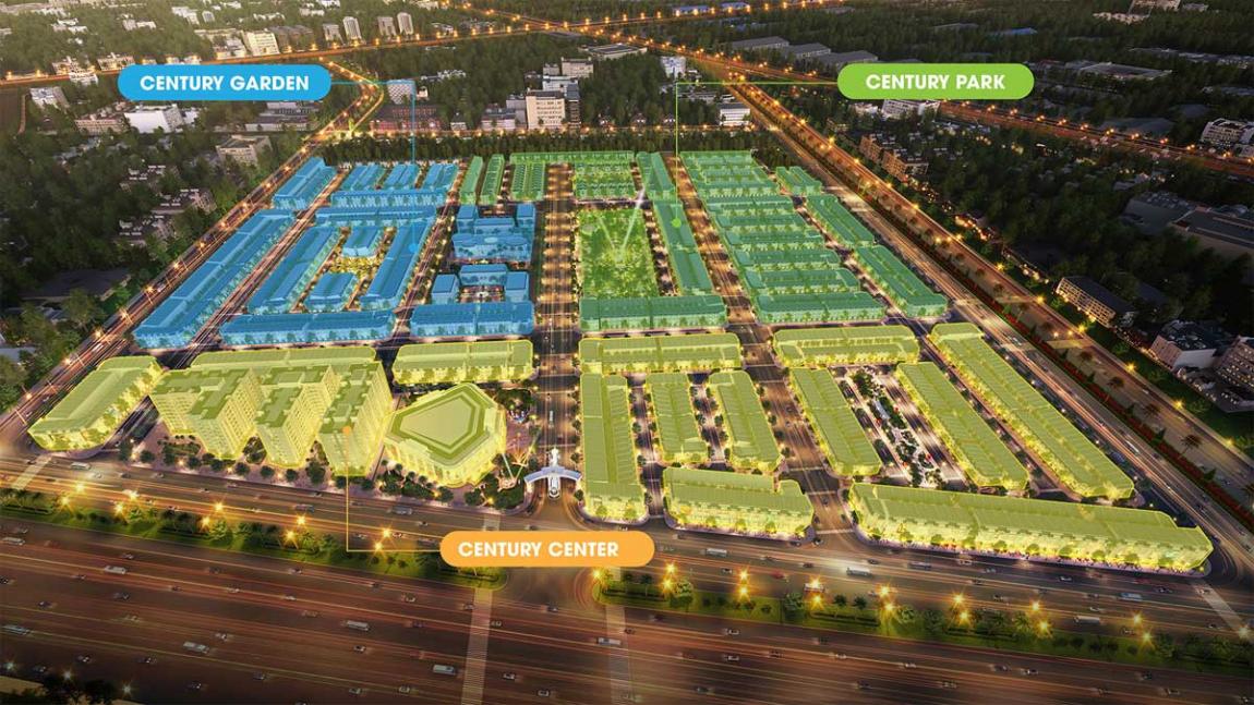 mặt bằng dự án century city 1