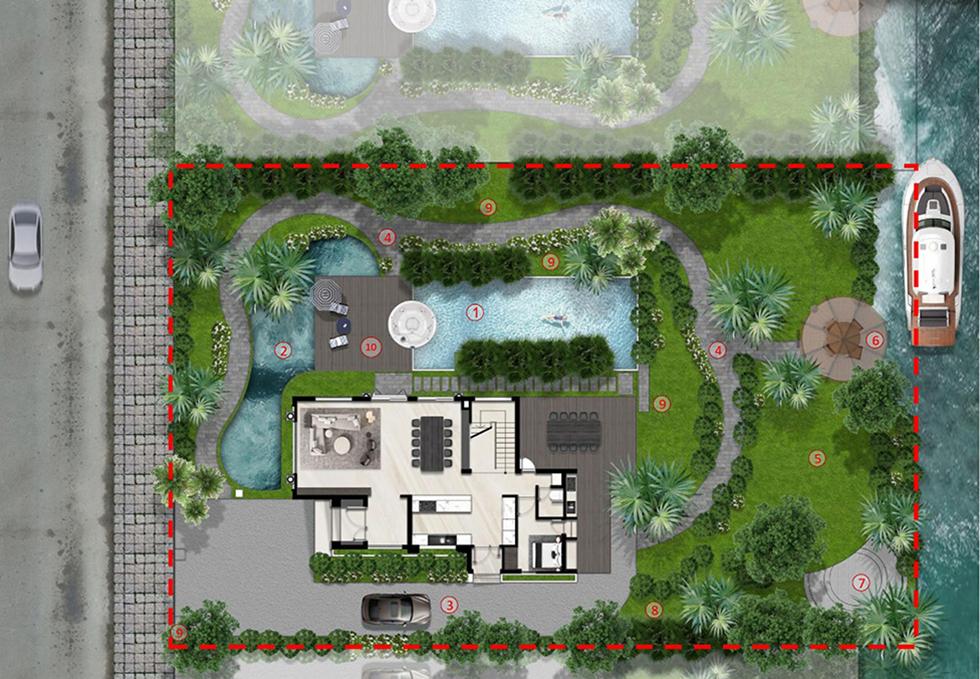 mặt bằng biệt thự mẫu một saigon garden