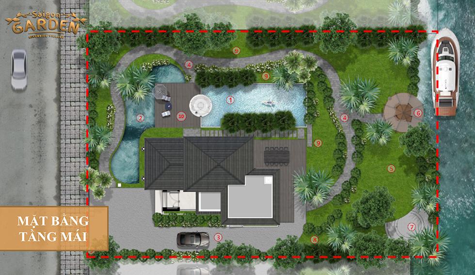 mặt bằng tầng mái mẫu 1 saigon garden quận 9