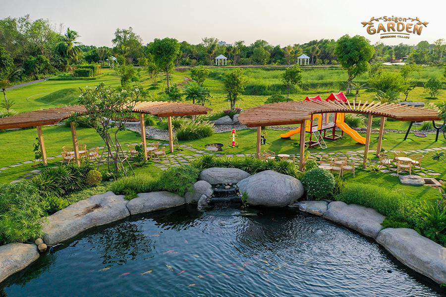 hình ảnh thực tế dự án biệt thự vườn saigon garden riverside quận 9 15