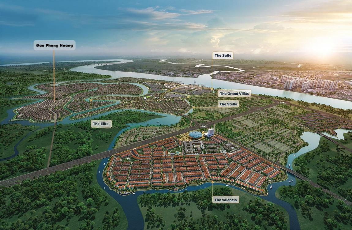 phối cảnh tổng thể dự án Aqua City long thành