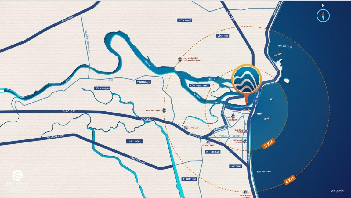 Sơ đồ vị trí dự án căn hộ The Aston Nha Trang