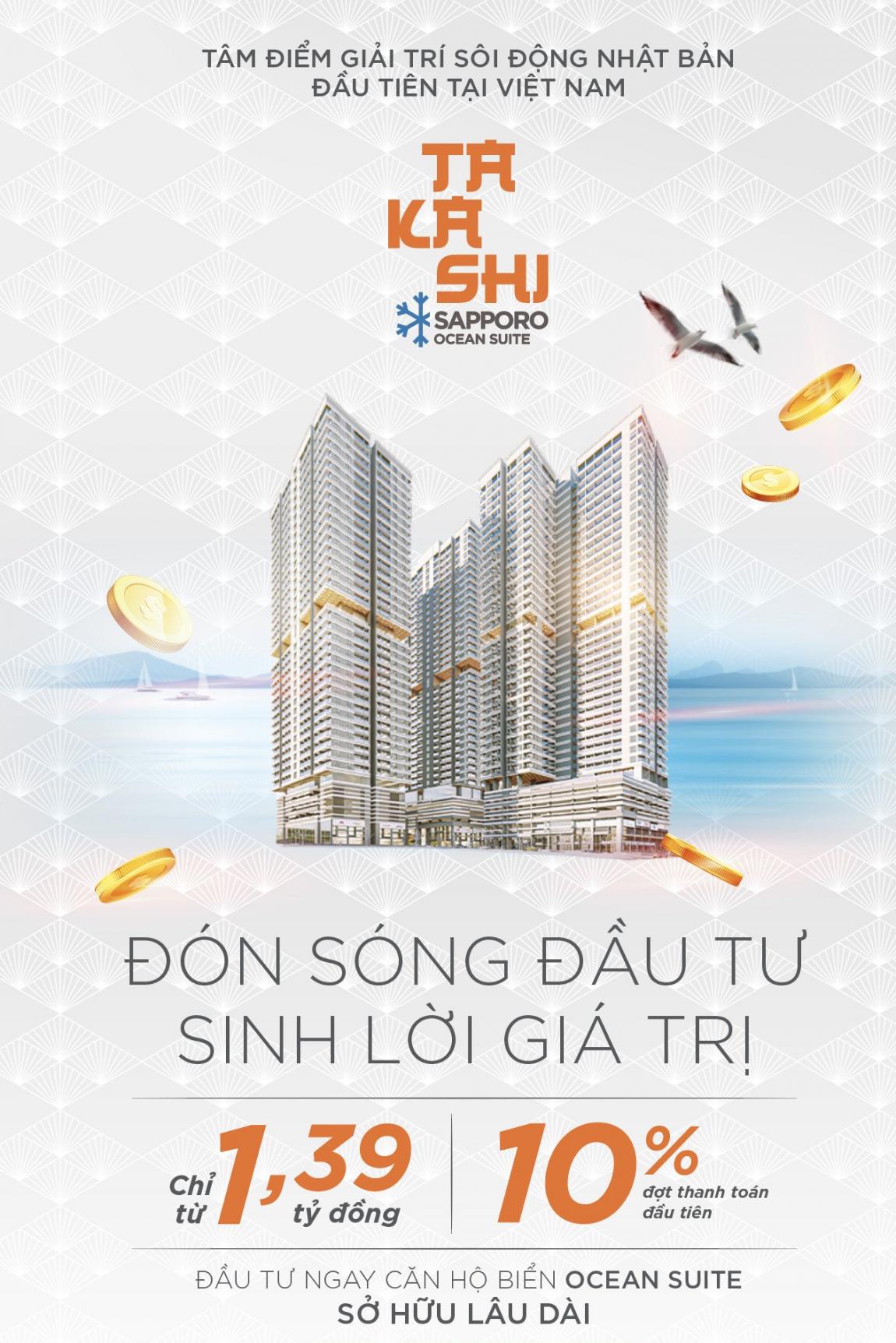 thanh toán căn hộ Takashi Quy Nhơn