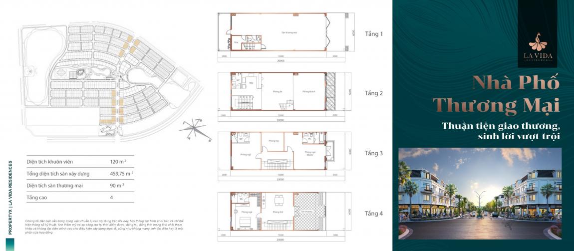 thiết kế nhà phố dự án lavida residences 1