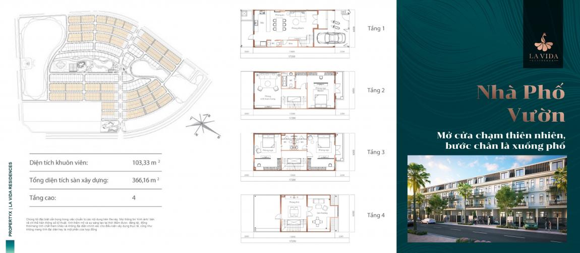 thiết kế nhà phố dự án lavida residences 4