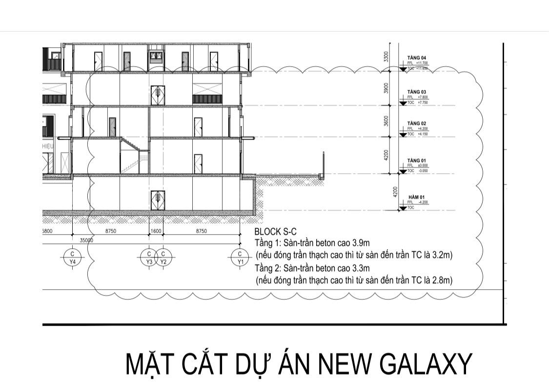 thiết kế shop house new galaxy 1