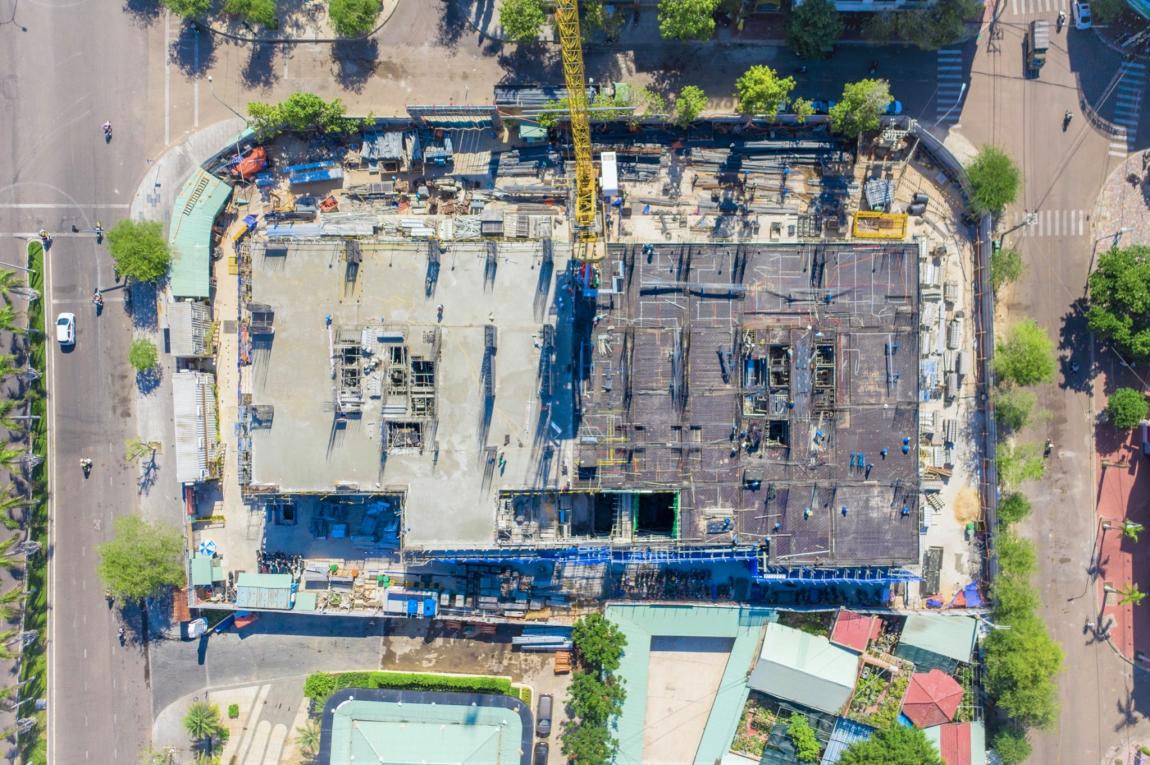 tiến độ căn hộ grand center quy nhơn tháng 8 ttt