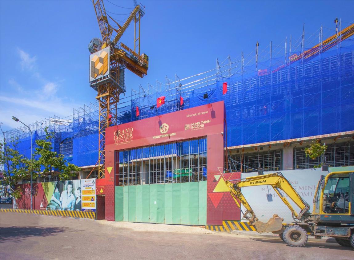 tiến độ căn hộ grand center quy nhơn tháng 9