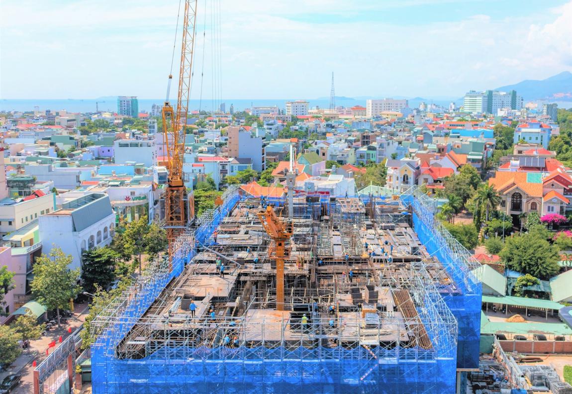 tiến độ căn hộ grand center quy nhơn tháng 9 ttt