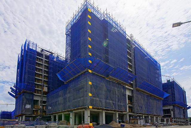 tiến độ thi công dự án căn hộ q7 saigon riverside đường đào trí 1