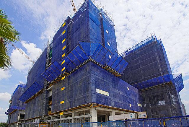 tiến độ thi công dự án căn hộ q7 saigon riverside đường đào trí