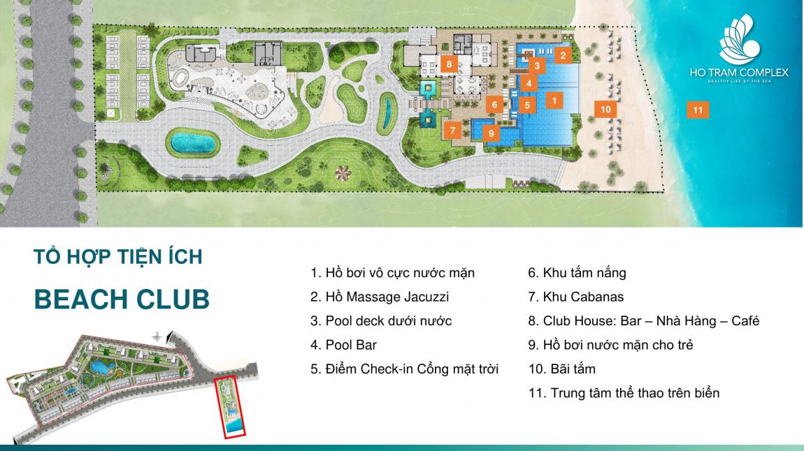 tiện ích dự án căn hộ hồ tràm complex 5