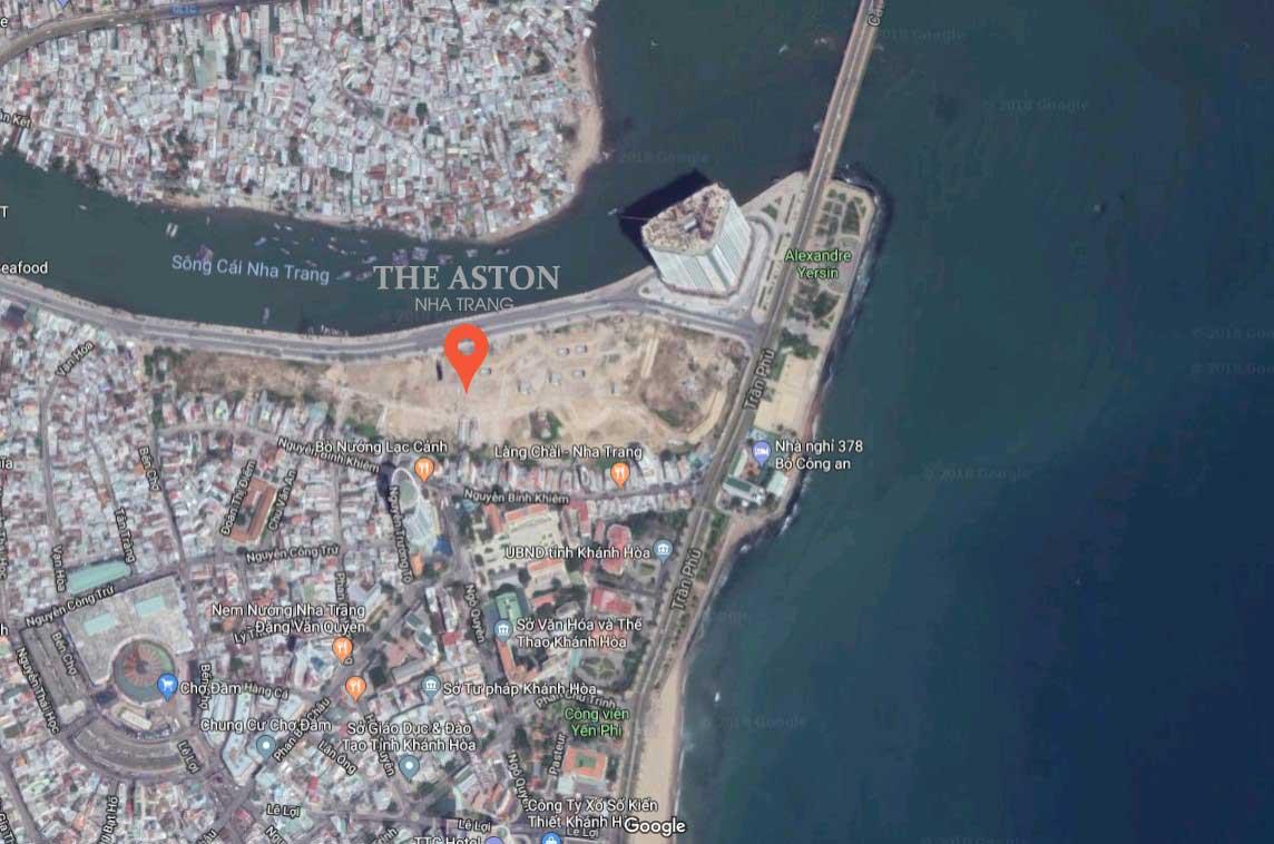 vị trí dự án the aston nha trang 1