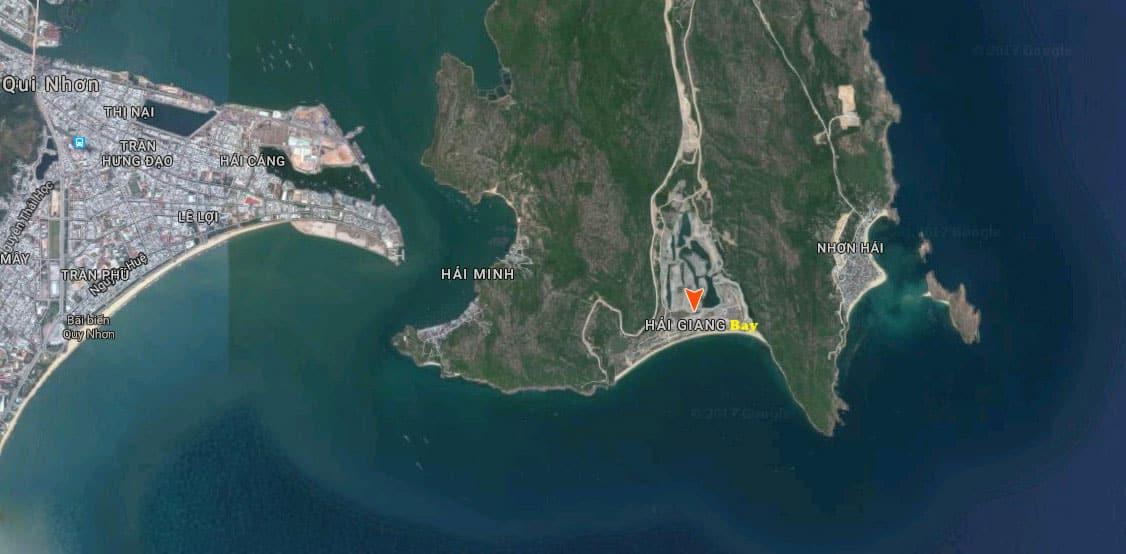 vị trí dự án hải giang merry land quy nhơn