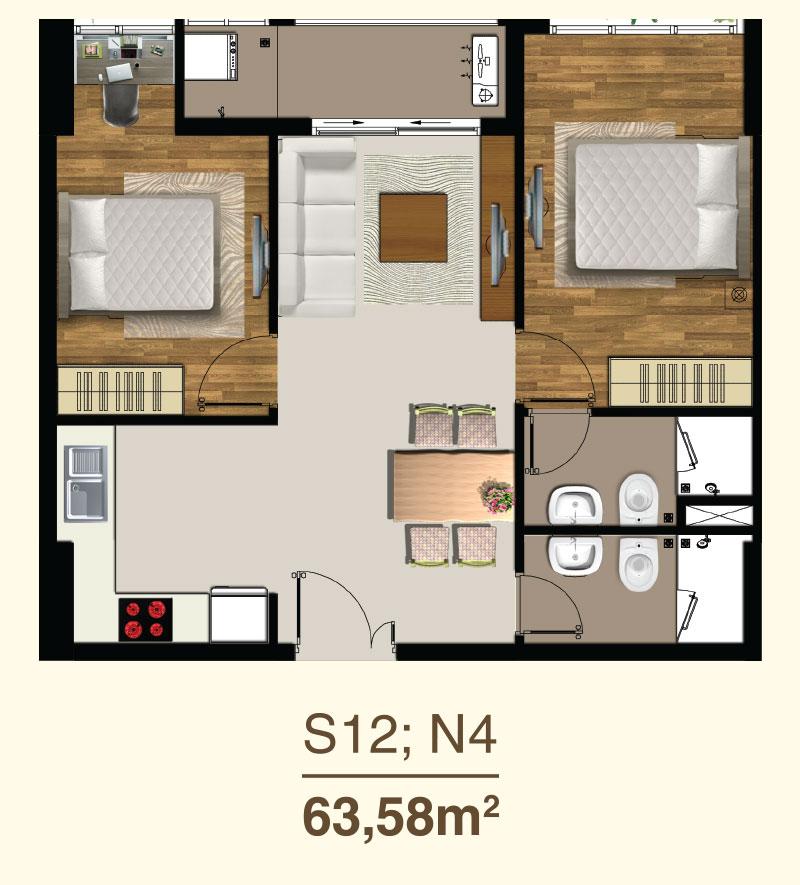 thiết kế căn hộ saigon mia