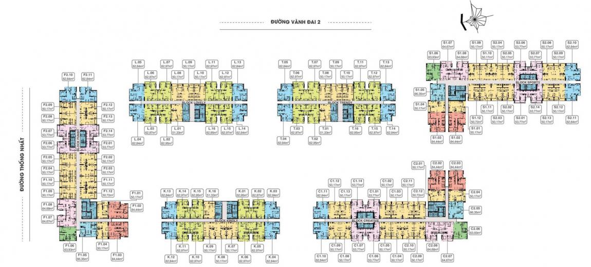 Mặt bằng dự án căn hộ 9x Next Gen tầng 4-17