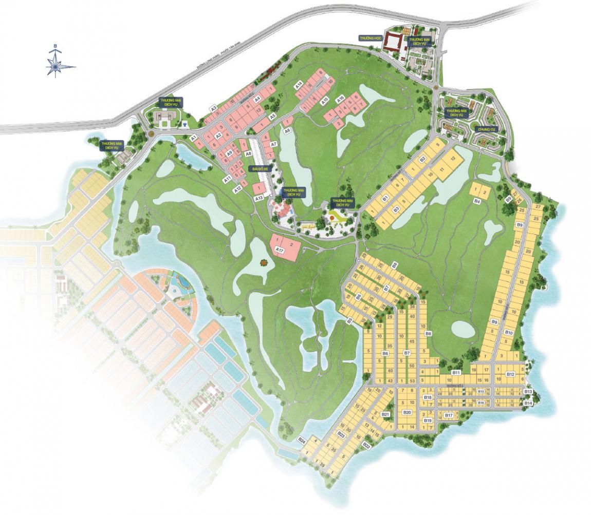 Mặt bằng Khu 1 dự án Biên Hoà New City