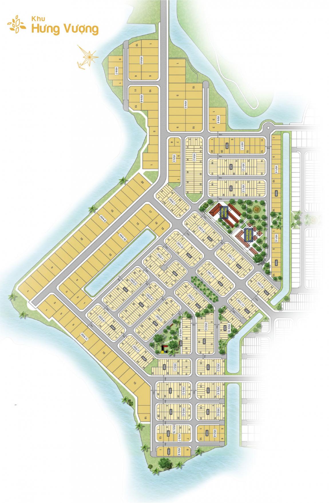 mặt bằng khu hưng vượng dự án biên hoà new city