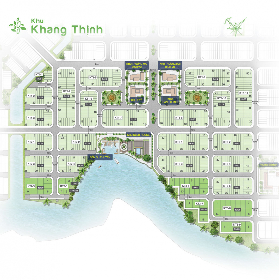 mặt bằng khu khang thịnh dự án biên hoà new city
