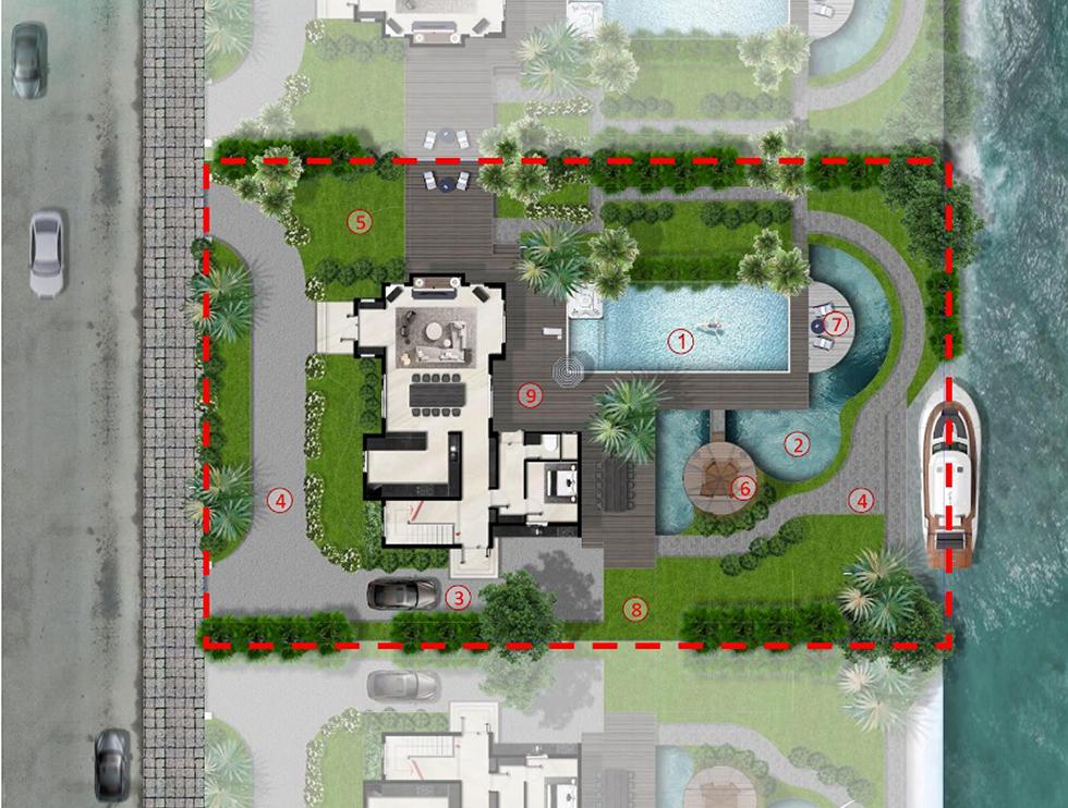 mặt bằng mẫu thiết kế 2 biệt thự saigon garden
