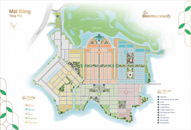mặt bằng phân lô dự án biên hoà new city