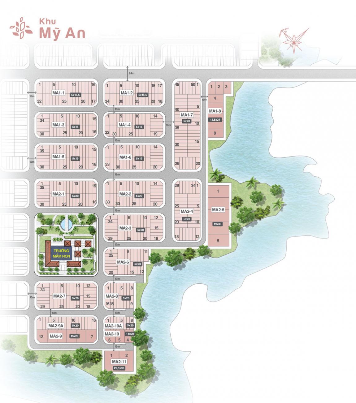 mặt bằng khu mỹ an dự án biên hoà new city