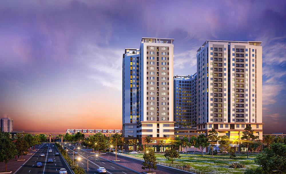 Phối cảnh tổng thể dự án căn hộ Lavita Charm Thủ Đức