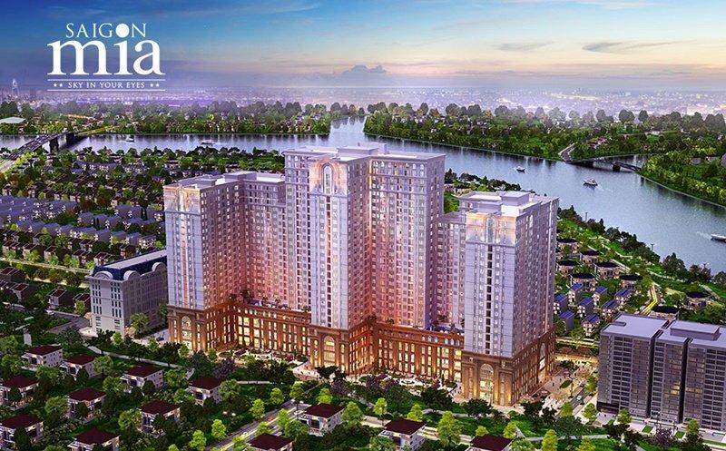 Phối cảnh thực tế căn hộ Saigon Mia khu Trung Sơn