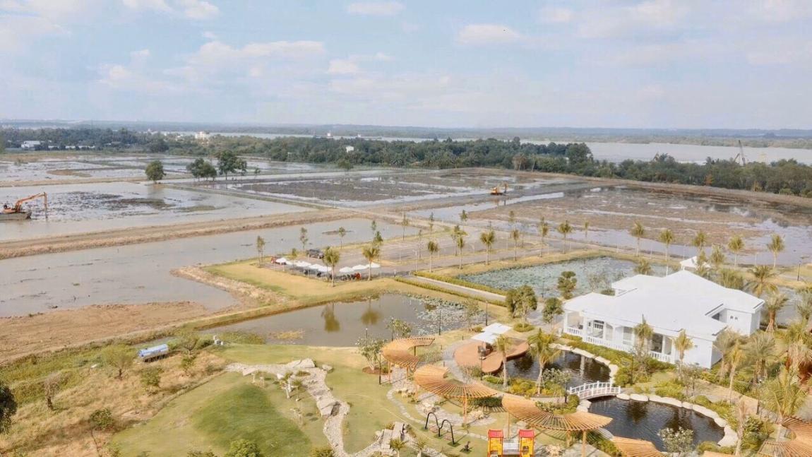 tiến độ thi công dự án biệt thự vườn saigon garden riverside village 1