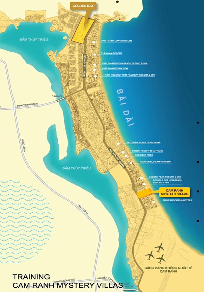 vị trí dự án cam ranh mystery villa