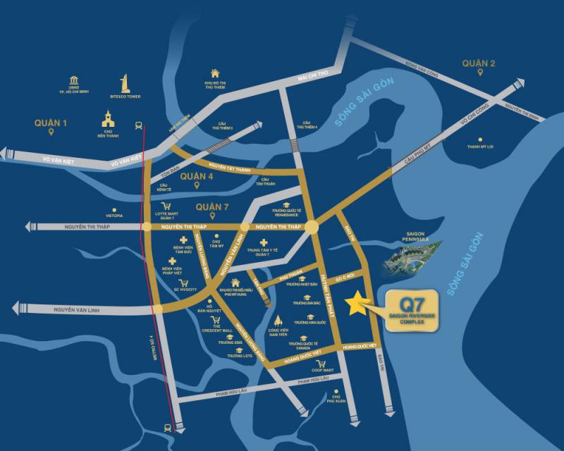 vị trí dự án căn hộ q7 saigon riverside