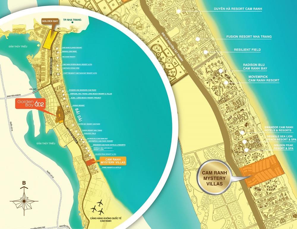 vị trí khu dự án khu đô thị golden bay cam ranh