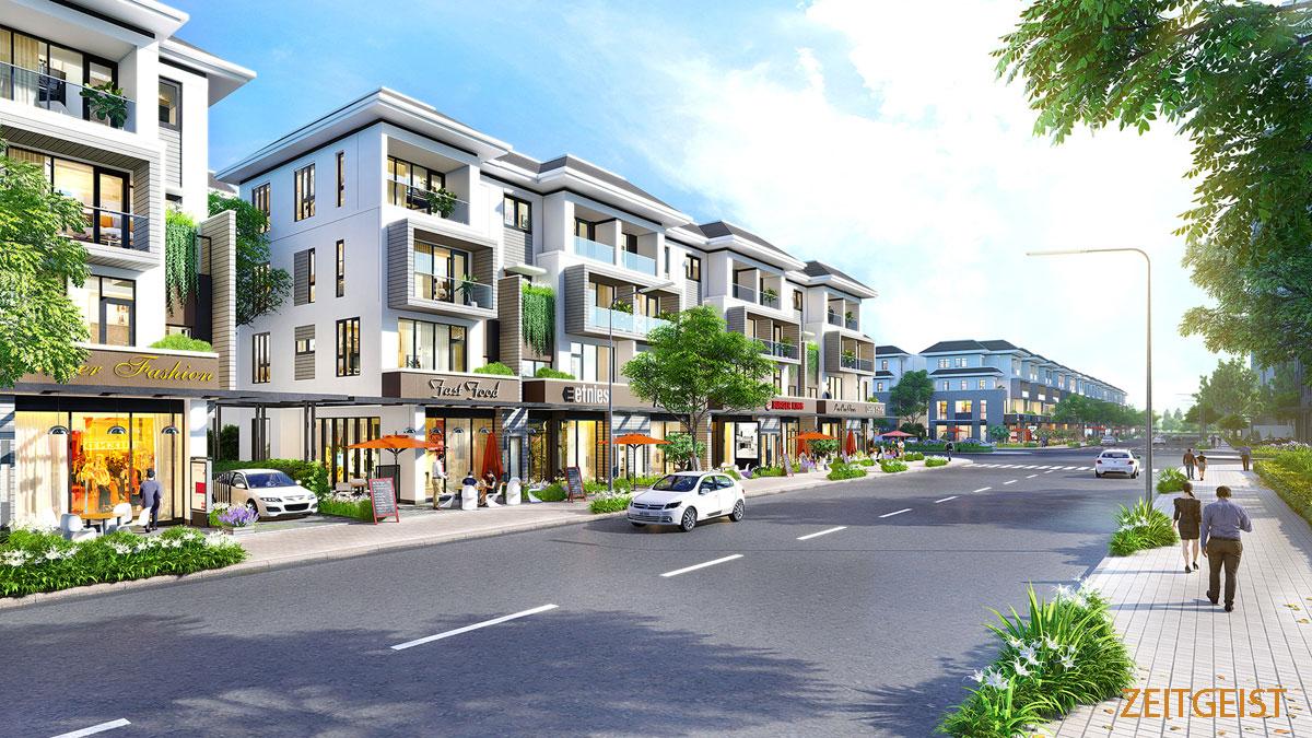 Khu Shophouse Dự án Zeitgeist Nhà Bè
