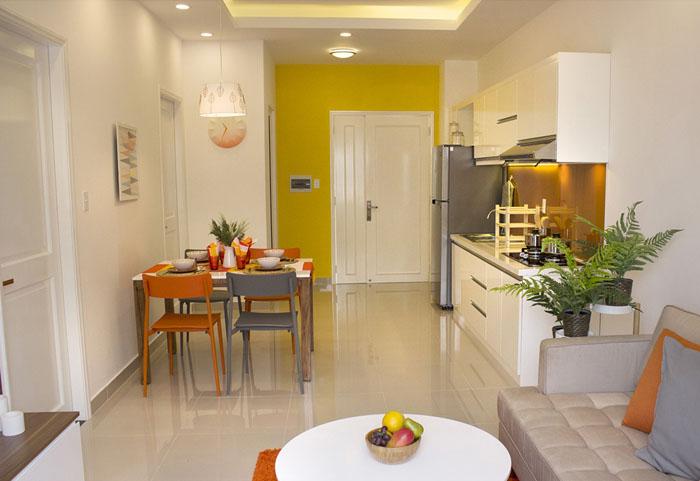 bếp và bàn ăn căn hộ 9 view