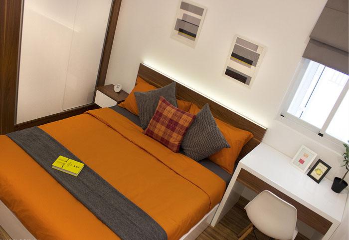 phòng ngủ căn hộ 9 view