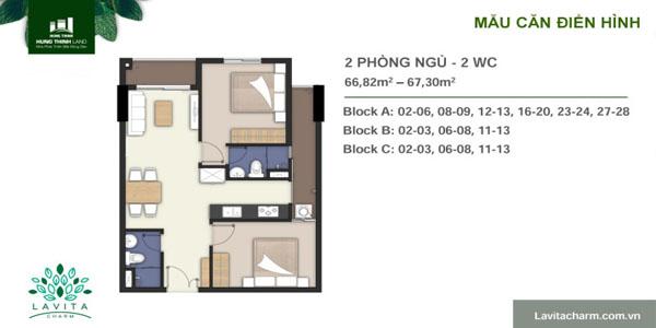 thiết kế căn hộ lavita charm 2
