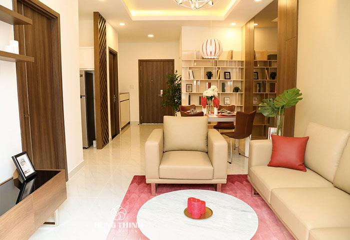 thiết kế phòng khách căn hộ Richmond City