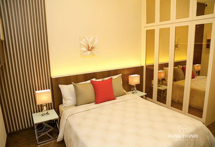 phòng ngủ nhỏ căn hộ richmond city