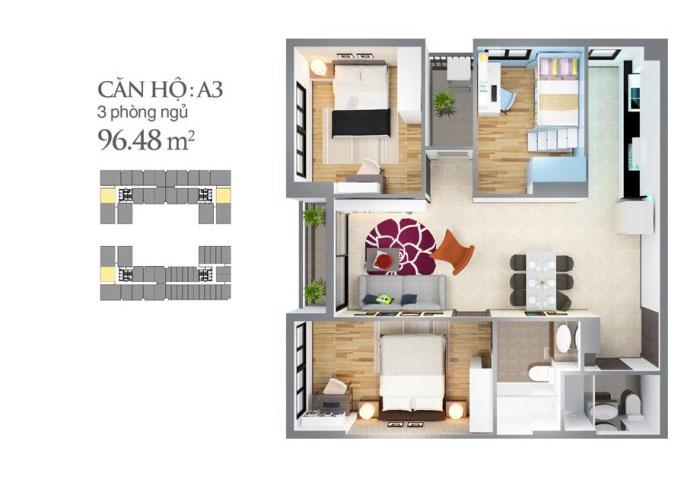 mẫu căn hộ sky center 139,2 m2