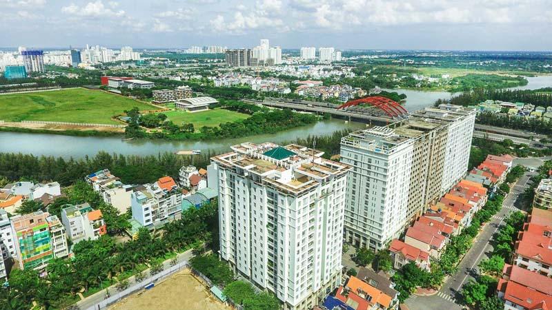 hướng nhìn quận 1 căn hộ citizen trung sơn