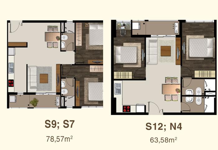 thiết kế căn hộ sài gòn mia