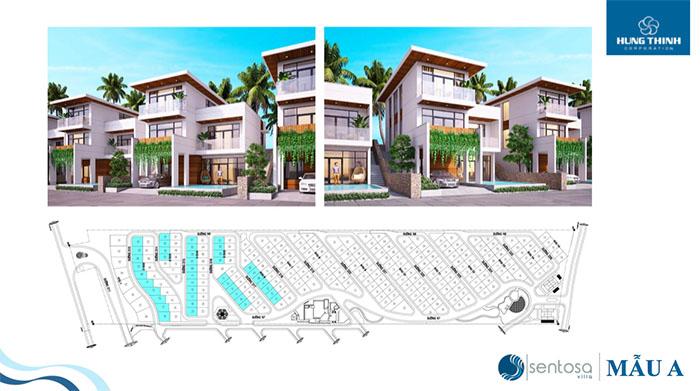 thiết kế mẫu dự án sentosa villa 1