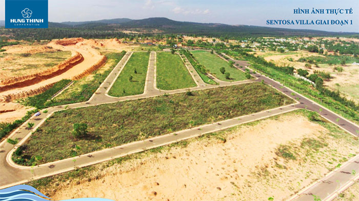 hình ảnh thực tế dự án sentosa villa 2