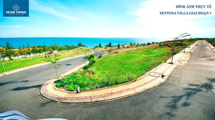 hình ảnh thực tế dự án sentosa villa 3
