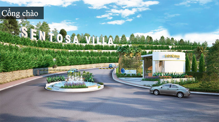 hình ảnh thự tế dự án sentosa villa