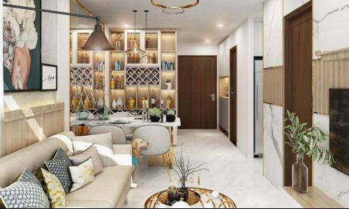 Thiết kế độc đáo và ấn tượng trong căn hộ Richmond Quy Nhơn