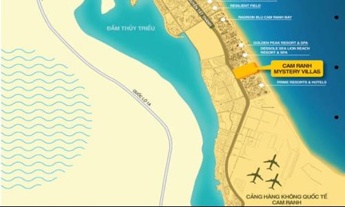 Lợi thế vị trí dự án Biệt thự nghĩ dưỡng Hưng Thịnh Cam Ranh Mystery Villas